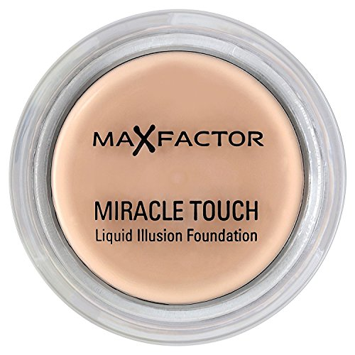 3 x Max Factor Miracle Touch Liquid Illusion Foundation 55 Blushing Beige 11.5g (Liquid Foundation Make-up Clean)