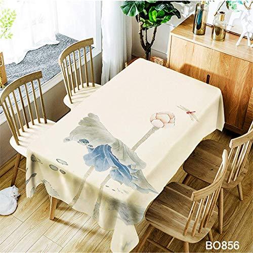 QWEASDZX Mantel 3D de Dibujos Animados Protección del Medio Ambiente A Prueba de Aceite Antiincrustante Mantel Multiusos a Prueba de Polvo Adecuado para Uso en Interiores y Exteriores 140x180cm