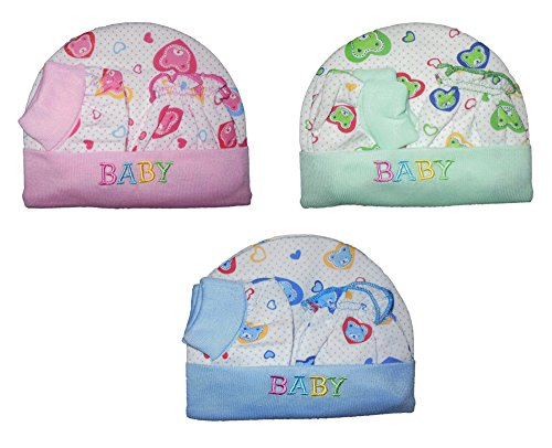 Mahi Fashion Baby Cap Mittens And Booties Combo Of 3 (Age 0-6 Months)