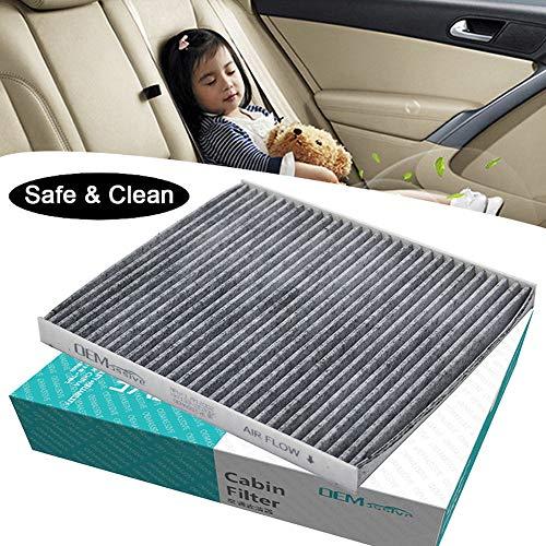 XUKEY Accessori Auto Filtro Aria condizionata polline Cabina Filtro Include Carbone Attivo 97133-2E200 97133-2E210 per Accent Tucson Veloster i40 ix35 RB JM FS VF LM El ELH