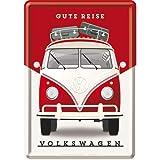 Nostalgic-Art 10301Volkswagen VW-Buen Viaje, Chapa Postal 10x 14cm, Metal, 10x 14x 0.2cm