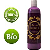 Sensual Massage Oil w/ Pure Lavender Oil - Relaxing Almond & Jojoba Oil - Women & Men – 100% Natural Hypoallergenic Skin Therapy - USA Made