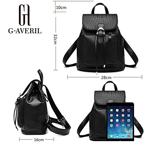 G-AVERIL GA1163-B, Borsa a zainetto donna nero Black Black