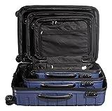 Packenger Premium Koffer, Trolley, Hartschale  3er-Set Vertical in Blau-Metallic, Größe M, L und XL - 5