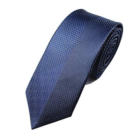 Z-P Mens Black Lattice Luxury Elegant Necktie Knit Woven Jacquard Skinny Tie