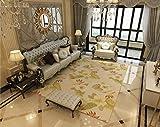 JTDD Einfache Moderne Nordic Garten Heimteppich Wohnzimmer Sofa Couchtisch Teppich Schlafzimmer Bett Matte (Farbe : #4, größe : 160 * 230cm)