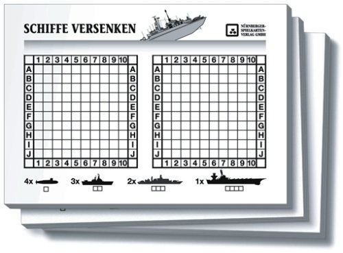 Nuernberger Spielkarten 02719924002 - Schiffe versenken Block - Spielkarten Großhandel