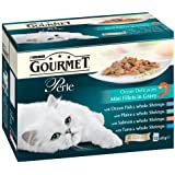 Purina Gourmet Perle Wet Cat Food Mini Fillets in Gravy, 48 x 85 g - Ocean Delicacies
