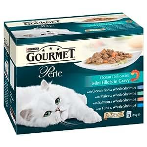 Purina Gourmet Perle Wet Cat Food Mini Fillets in Gravy, 48 x 85 g - Ocean Delicacies