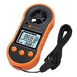 Neoteck Numérique LCD Anémomètre Vent Vitesse Compteur Air Flux Thermomètre avec Rétro-Éclairage pour Planche À Voile Flying Kite Surf Pêche