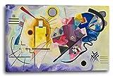 Wassily Kandinsky - Gelb-Rot-Blau (1925), 100 x 70 cm (weitere Größen verfügbar), Leinwand auf Keilrahmen gespannt und fertig zum Aufhängen, hochwertiger Kunstdruck aus deutscher Produktion (Alte Meister bis Moderne Kunst). Stil: Abstrakte Malerei, Abstrakte Kunst, Expressionismus, Kubismus