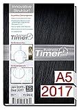 Chäff Kalender 2017 schwarz Din A5  Timer  Terminplaner  Organizer  Terminkalender mit Wochenplaner  Kalendarium für Projektplanung