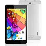 Excelvan® KP-703 7inch Android 4.2 MTK8312 3G Phablet 4GB ROM Dual Camera Bluetooth GPS Google Play Store Youtube Gmail APPs Tablet PC+Dual SIM Dual Standby Unlocked 3G Smartphone For T-Mobile, Orange, O2-UK, vodafone, 3 Network (Silver)