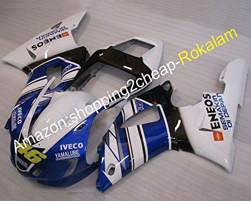 YZF1000 YZFR1 Kit de rechange pour YZF 1000 R1 1998 1999 Carénages de moto sport (moulage par injection)
