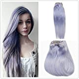 Best Lavender Hair Dyes - Alize 20 Inch Clip in Hair Extensions Pastel Review