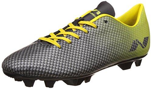 Nivia Premier Carbonite Range Football Studs, Men's Size 10 (Black/Yellow)