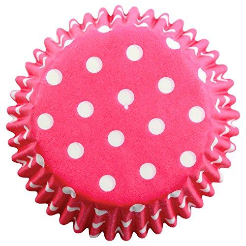 �r Cupcakes aus Papier mit rosanen Tupfen, Standardgröße, Packung mit 60 Stück (Papier-cupcake-backförmchen)