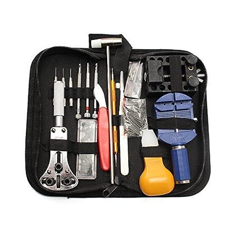 Montres Kit , JELEGAN Professional Multi-Tool Trousse d'outils de Montre Tool Kits et Outils de Réparation / Horlogers Sac à Outils