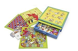 Unbekannt jeujura jeujuraj11860Flashy Juego en Caja de Madera de Colores (200Piezas)