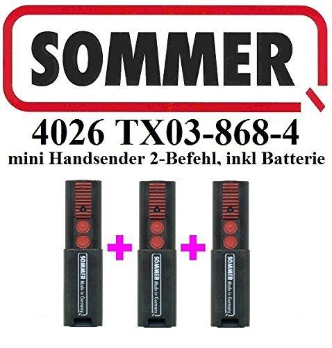 Swing Door Opener (3 X Sommer 4026 TX03-868-4,2-Befehl 868,8MHz Original Handsender)