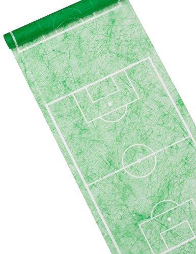 Tischläufer Fussballfeld grün, 30 cm, 5 m Rolle, Fußball Party -