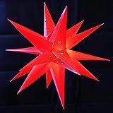 Weihnachtsstern 58cm Rot LED Außenstern 3D Adventsstern Stern Leuchtstern mit Timer