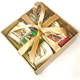 Yankee Candle 6 Samplers Gift Pack - Gift Wrapped Set in Gold Box, Gold Tissue & Ivory Gold Ribbon