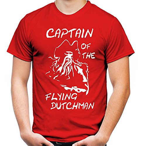 Captain of the Flying Dutchman Männer und Herren T-Shirt | Spruch Vintage Pirat Geschenk (XL, (Plus Size Piraten Herren Kostüme)