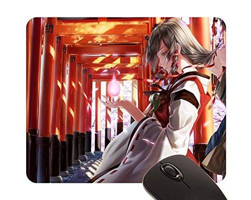 beautiful-girl-inari-konkon-koi-iroha-miko-rail-silverbow-ukanomitama-no-kami-mouse-pad-22x18cm