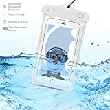 #8: Samsung Galaxy A9 Pro 2016 White TRANSPARENT Underwater Protection Touch Responsive Dry Bag Case Cover for Samsung Galaxy A9 Pro 2016