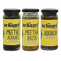 The Achaari Homemade Mango Pickle (Pack of 3) (Meethi Achaari, Meetha Raita & Nouncha)