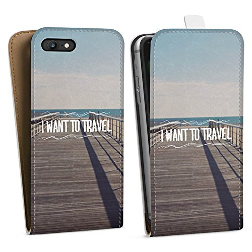 Apple iPhone X Silikon Hülle Case Schutzhülle Reisen Sommer Sprüche Downflip Tasche weiß