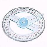 BXGSHOSF Braccio Rotante in plastica per Righello per Angolo Righello goniometro Righello per Forniture per Ufficio Scolastico