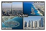Kühlschrankmagnet - Souvenir - DUBAI UAE 9cm x 6cm Jumbo