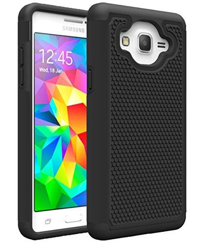 Galaxy ON5Fall, Galaxy G550Fall, MCUK [Stoßdämpfung] Drop Schutz Hybrid-Dual-Layer Defender Schutzhülle für Samsung Galaxy ON5/G550, Schwarz