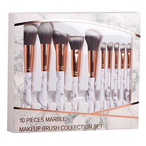 Coshine 10pcs/set Professionell Marmor Make-up Pinsel-sammlung, Für Losen Pulvers, Kontur,...
