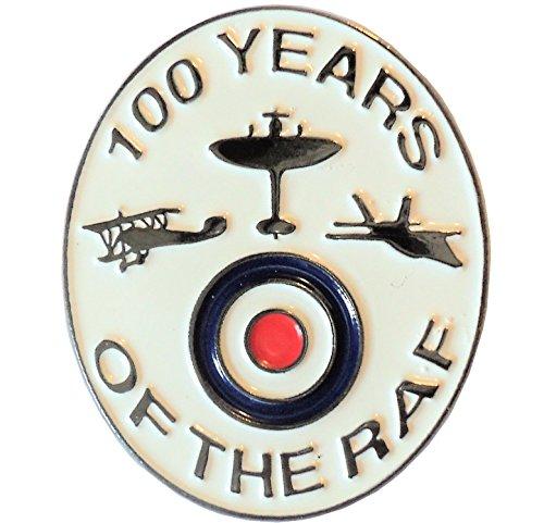100 Years of The RAF Royal Air Force WW1 WW2 Spitfire Enamel Badge