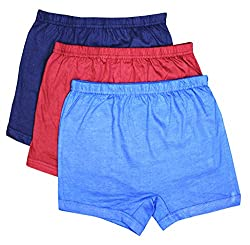 Elk Kids Baby Boys Plain Trouser Bloomer Innerwear 3 Piece Combo