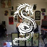 hllhpc Moderne Home Design Décor Dragon Wall Sticker Vinyle Porte Stickers Décoration Salon Tatouage Boutique Fenêtre Murale Removable57 * 100 cm