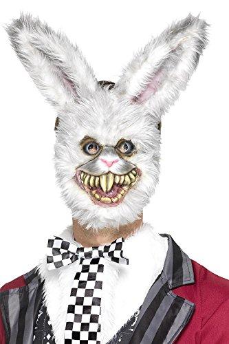 Zombie Hase Horror Maske mit Kunstfell - Horrorhase - Halloween & Fasching