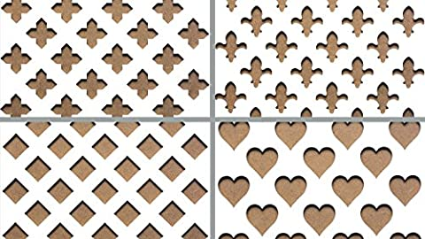 MDF Radiator Cover Decorative Screening - Grille - Panels (4 x 2 Feet - 1215 x 610 mm) (Orslow)