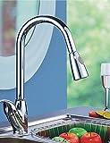 SUhang Küchenarmaturen Küche Wasserhahn Pullout Spray Vor Spülen Messing Chrom Küche Wasserhahn