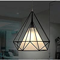ZSL Lampshade Cage Modern Retro Style Black Metal Basket Cage Ceiling Pendant Light Shade