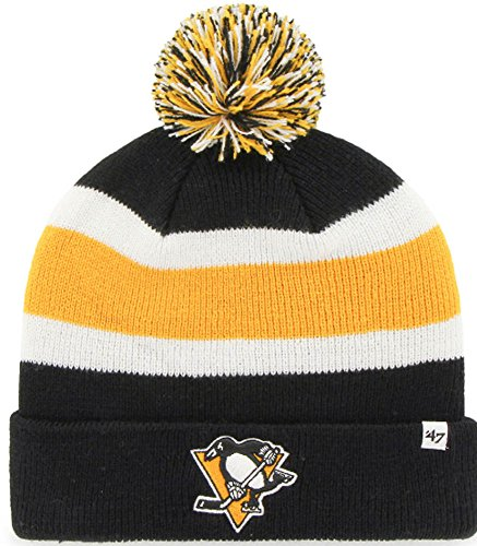 47 Brand NHL Pittsburgh Penguins Breakaway Cuff Knit Beany Hat One Size Mütze Forty Seven