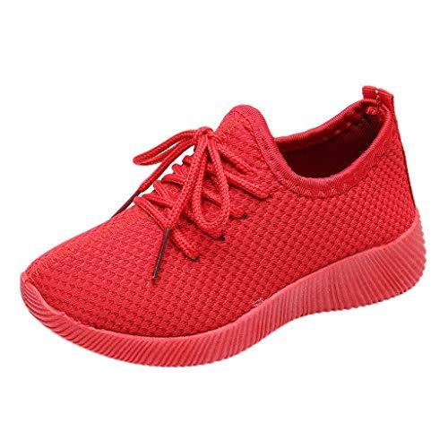 Heiß!! Mädchen Jungen Leichte Sport Laufschuhe Mode Sommer Closed Toe Lace-up Casual Schuhe Mesh Atmungsaktive Trainer für 3-13 Jahre alt Kinder Kinder ()