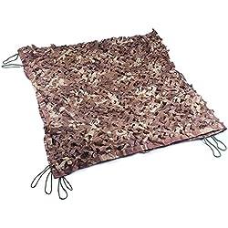 HRS - Filet de camouflage militaire-4x 4m, Homme, sable