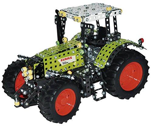 Tronico 10060 - Metallbaukasten Traktor Claas Axion 850, Profi Serie, Maßstab 1:16, 1012-teilig, grün Grün 16-teilig