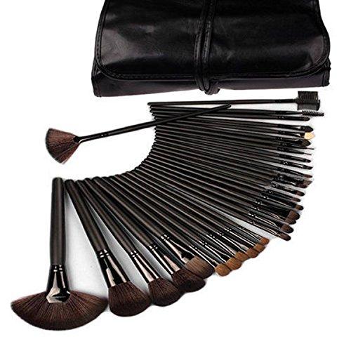 ESYN 32pcs poignée en bois pinceau de maquillage professionnel cosmétiques Pinceaux Kit