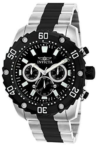 Invicta 22521 Pro Diver Men's Wrist Watch Stainless Steel Quartz Black Dial