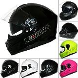 Leopard LEO-828 DVS Full Face Motorbike Motorcycle Helmet with Built-in Sun Visor